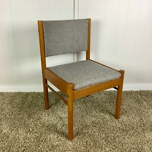 4 Freshly Upholstered Mid Century Modern Chairs.