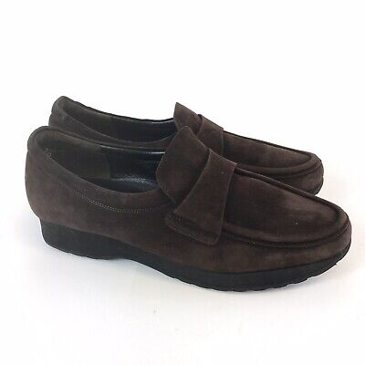 Kennel & Schmenger Size UK4 Brown Leather Suede Slip On Mocassin Loafers Shoes
