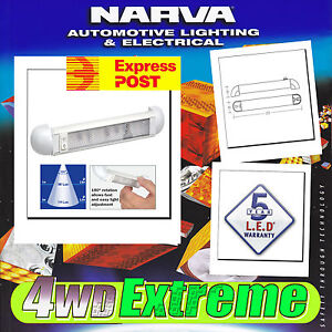 NARVA-LED-INTERIOR-SWIVEL-LIGHT-STRIP-ADJUSTABLE-CARAVAN-RV-MARINE-12V-24V-87664