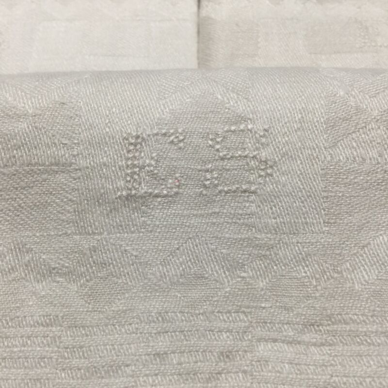 5 Antique French Tea Torchons Linen Large Kitchen Towels ES Mono with Loops T11