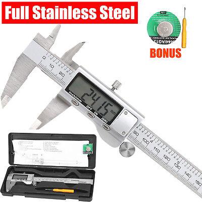 "Digital LCD 6"" Vernier Stainless Steel Caliper 150mm Micrometer Electronic Gauge"