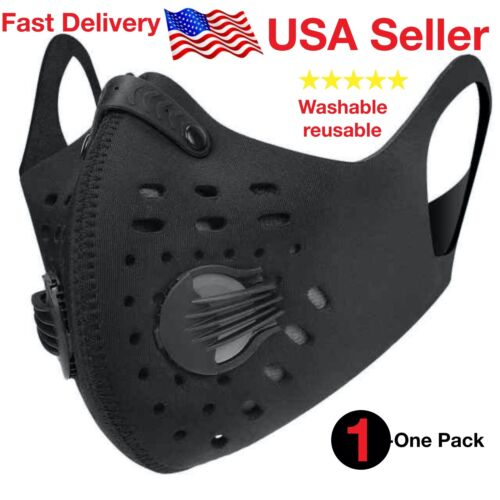 Face Mask , with pocket filter , Unisex, Mouth Mask , Washable, Reusable , Mask
