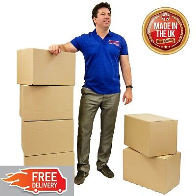 5 Medium Double Strength Cardboard Packing Moving Boxes Popular Choice New