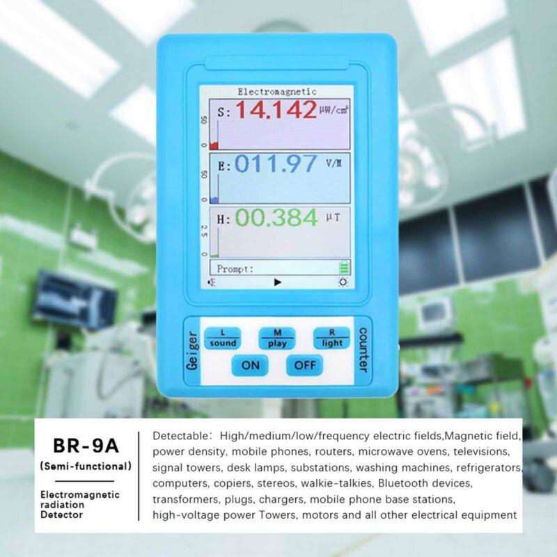 BR-9A Electromagnetic Field Radiation Detector EMF Meter Moniter Counter