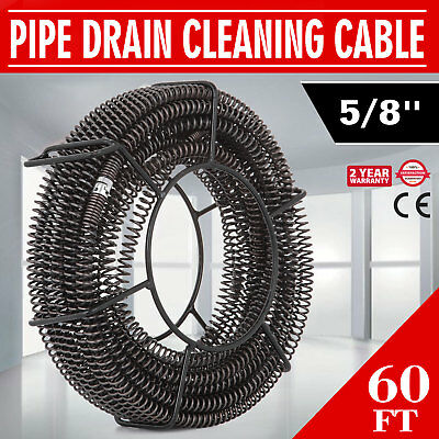Vevor 58 X 60 Ft Drain Auger Cable Replacement Cleaner Snake Pipe Sewer Wire