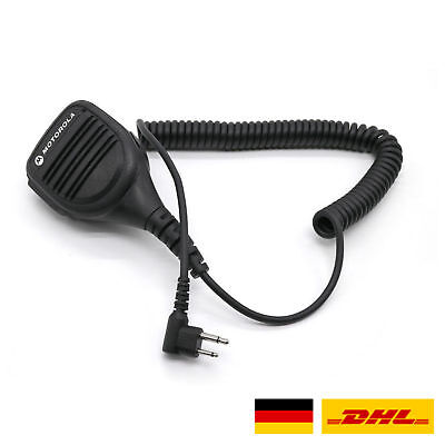 PTT Lautsprecher Mikrofon für Motorola 2 PIN GP68 CP150 GP88 Funkgerät Schwarz