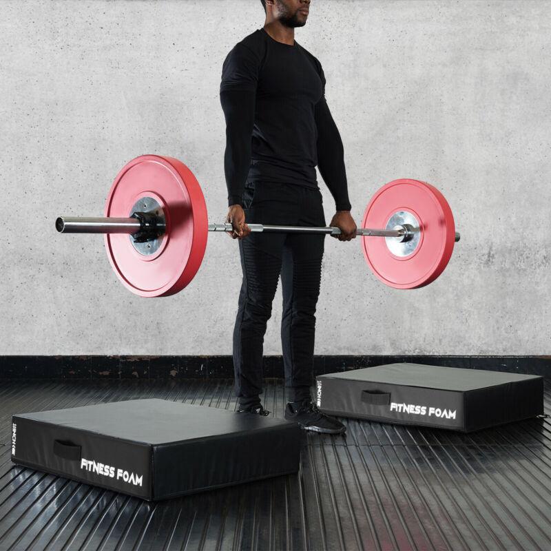 Silencer Drop Pads Pairs 10in Weight Lifting Drop Pads Barbell Crash Cushion Mat