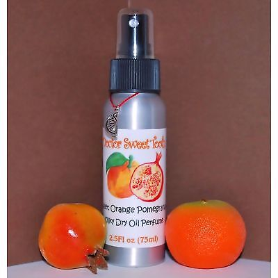 SWEET ORANGE POMEGRANATE Scented Handmade Scented Dry Oil Perfume PARABEN FREE Pomegranate Dry Oil