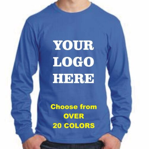 50 Custom Silk Screen Printed LONG SLEEVE T-Shirts ANY COLOR-$7.00 EACH BULK TEE