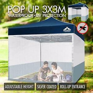 3x3 Folding Outdoor Gazebo Marquee Tent Canopy Pop Up Party Navy Melbourne CBD Melbourne City Preview