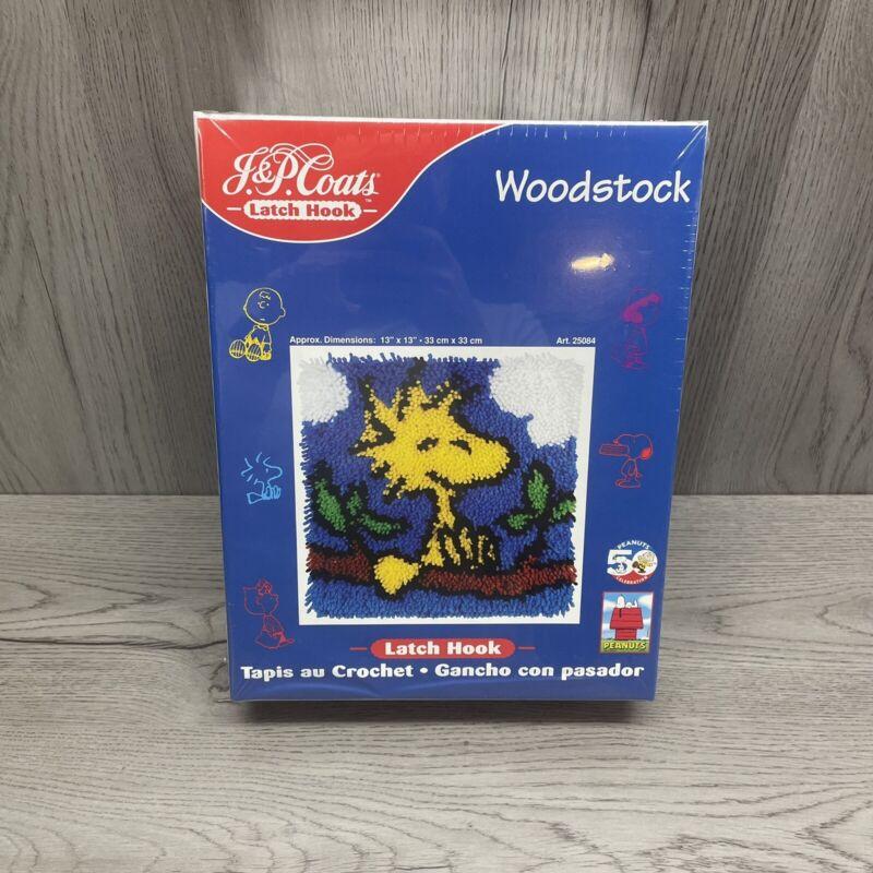 J & P Coats Latch Hook Peanuts Woodstock Brand New