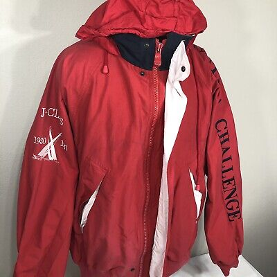 VTG Nautica Jacket J Class Challenge Windbreaker Sailing Competition 90s 2XL