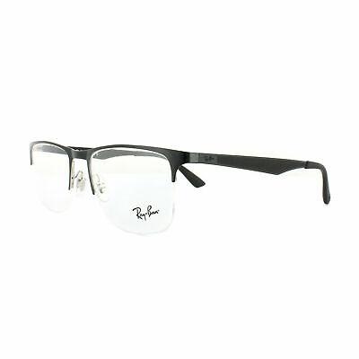 Ray-Ban Glasses Frames RX 6362 2861 Silver Top Shiny Black Mens (New Ray Ban Glasses)