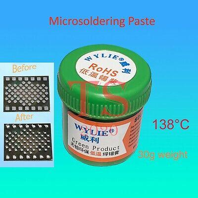 Solder Paste Wl-201 No Clean Lead-free Low Temperature Melts 138c Repair 30 Gms