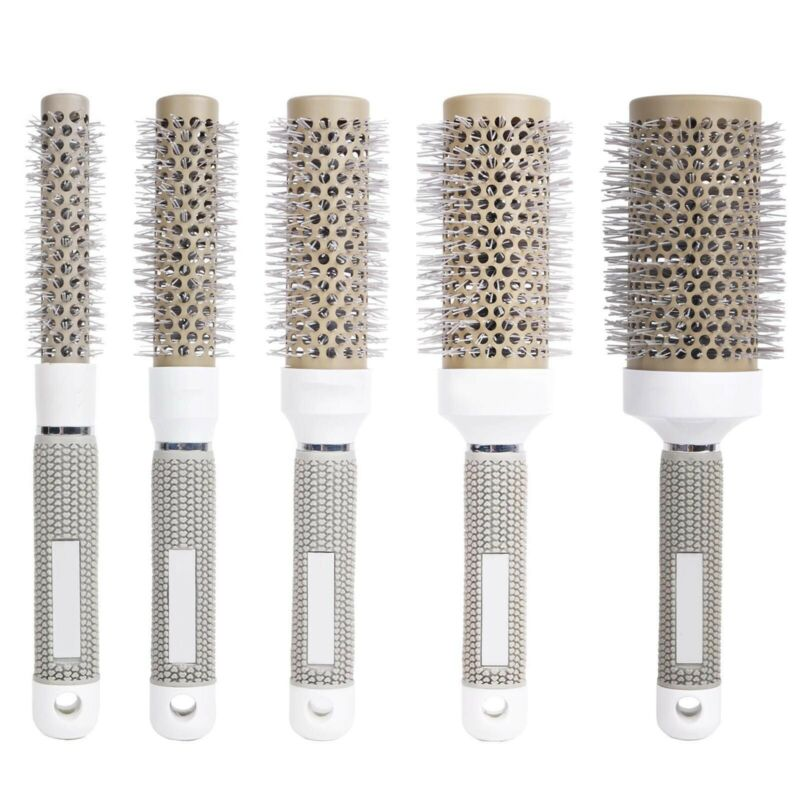 Hair Brush Nano Thermal Ceramic Ionic Round Comb Styling Hai