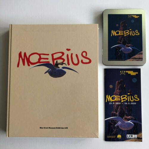 MOEBIUS ARTBOOK EXHIBITION CATALOGUE HARDCOVER HC SEALED RARE + LTD Postcard Set