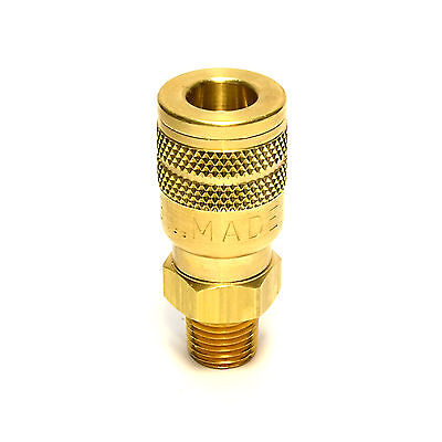 Foster Solid Brass Quick Coupler Air Hose Connector Fittings 1/4 NPT Tool Plug M