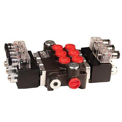 Solenoid Operated 3 Spool Control Valve 12 Volt 13 Gpm