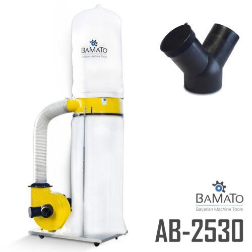BAMATO Absauganlage AB-2530 mit Y-Adapter Späneabsaugung Absaugung 230V