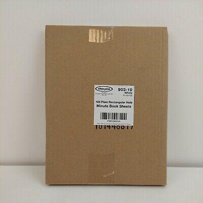 Wilson Jones Ledger Sheets For Corporation Minute Book White 11x8-12 100 903-10