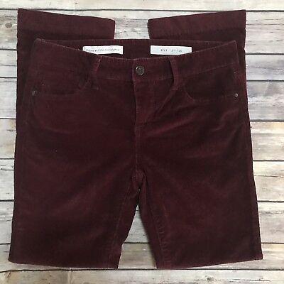 ANTHROPOLOGIE PILCRO & THE LETTERPRESS BURGUNDY CORDUROY CROPPED PANTS SZ 26 Corduroy Cropped Pants