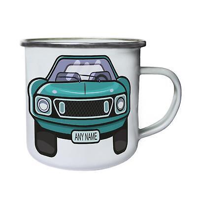 Vintage Car Custom Any Name Personalised Retro,Tin, Enamel 10oz Mug a730e - Custom Tin Mugs