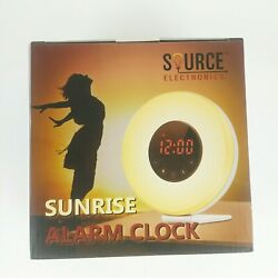 Source Electronics Sunrise Sunset 7 LED Color Natural Sounds Alarm Radio Clock