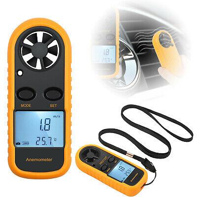 Digital Lcd Air Wind Speed Anemometer Temperature Gauge Meter Test Thermometer R