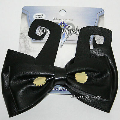 Disney Kingdom Hearts HEARTLESS Black Glow in the Dark Hair Bow Cosplay Costume  - Glow In The Dark Hair Accessories