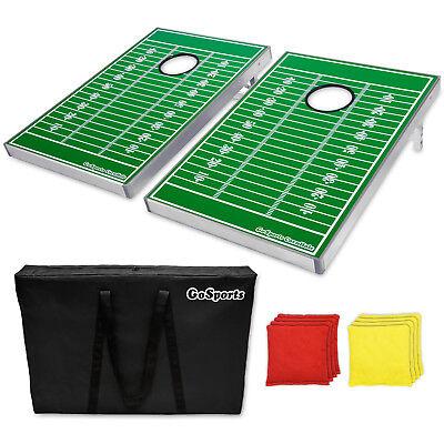 GoSports Cornhole Bean Bag Toss Tailgate Game Set Football Boards Edition ()