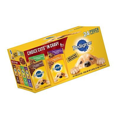 PEDIGREE Choice Cuts in Gravy Wet Dog Food Pouches Variety: Fil... Free Shipping