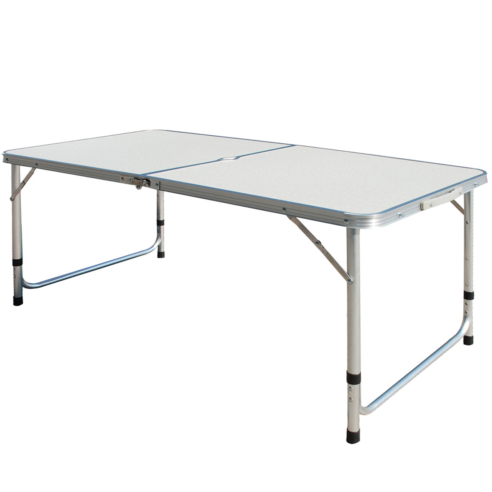 4ft 1 2m lightweight aluminum portable folding camping table picnic bbq outdoor ebay - Small lightweight folding table ...