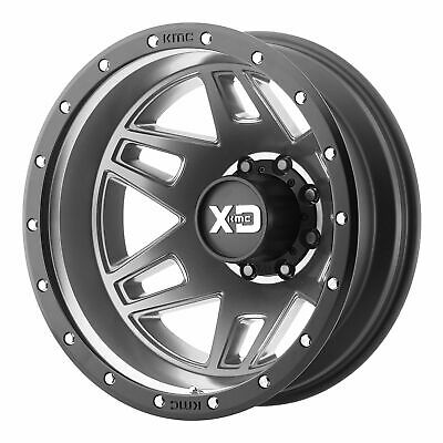 XD Series 20x7.5 XD130 Machete Dually Wheel Matte Gray Black 8x6.5 8x165.1 -152