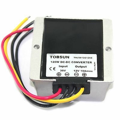 New Converter Voltage Reducer Regulator 36v Step Down To 12v 10a 120w Fast Ship