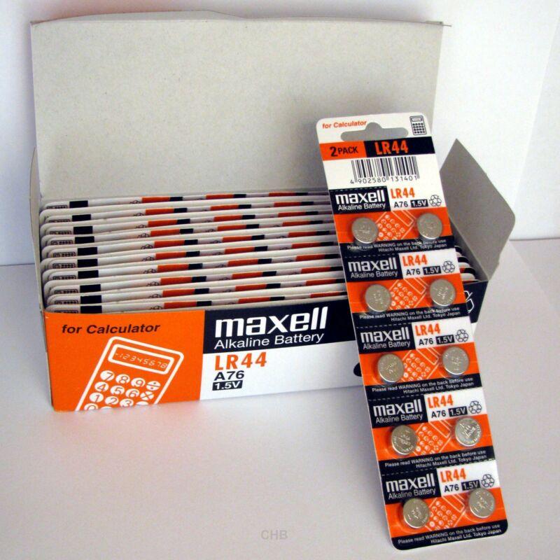 8 New Lr44 Maxell A76 L1154 Ag13 357 Sr44 303 Battery Freshly New - Usa Seller