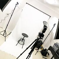 Professional photography services + studio