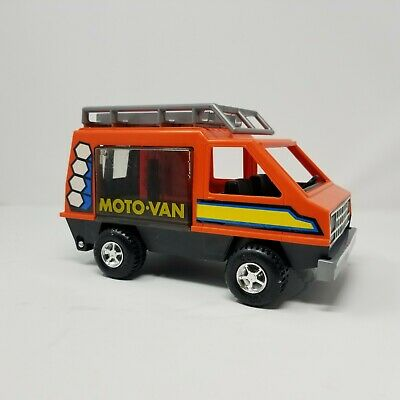 1977 Vintage Fisher Price Adventure People Orange Camper Moto Van HTF rare USA