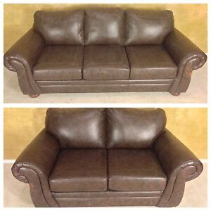 BONDED LEATHER COUCH + LOVESEAT FOR $150! DELIVERY AVAILABLE!