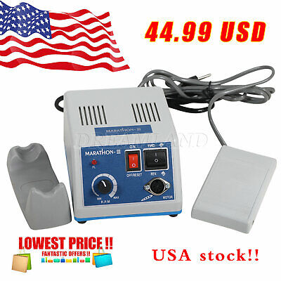 Usa Dental Lab 35k 35.000 Rpm Marathon Micromotor Polisher Jewelry Electric N3