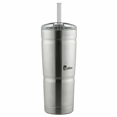 bubba Envy S Vacuum-Insulated Stainless Steel Tumbler with Straw, 24 oz., Cle...