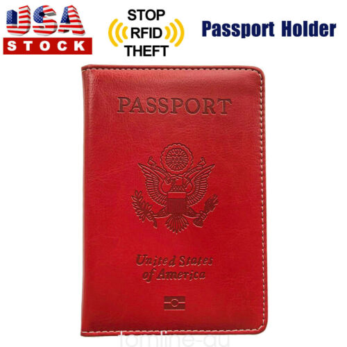 passport cover protector pu leather id case