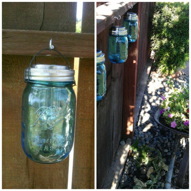 FREE MASON JAR WIRE HANGERS w// purchase of 4 stainless steel solar light lids