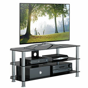 Glass Chrome Tv Stand Ebay