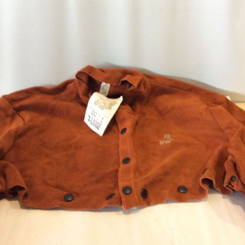 Red Ram Leather Welding Cape Orange Suede Snap Closure NO BIB Size XLarge