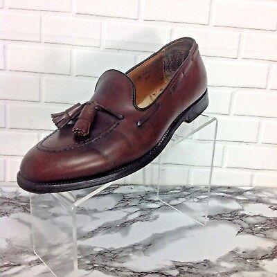 ALDEN Men Dress Shoes Size 9 1/2 Tassel Moccasin Brown Calfskin Loafer Style 560