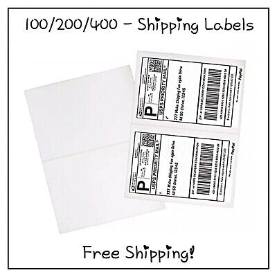 100200400 Pack - Self Adhesive Shipping Labels Free Shipping