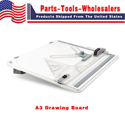 Pro Architect A3 Drawing Drafting Board Ruler Table Adjustable Angle Tool Set