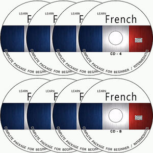 LEARN HOW TO SPEAK FRENCH COMPLETE LANGUAGE COURSE TUTORIAL GUIDE ON 8 AUDIO CDs