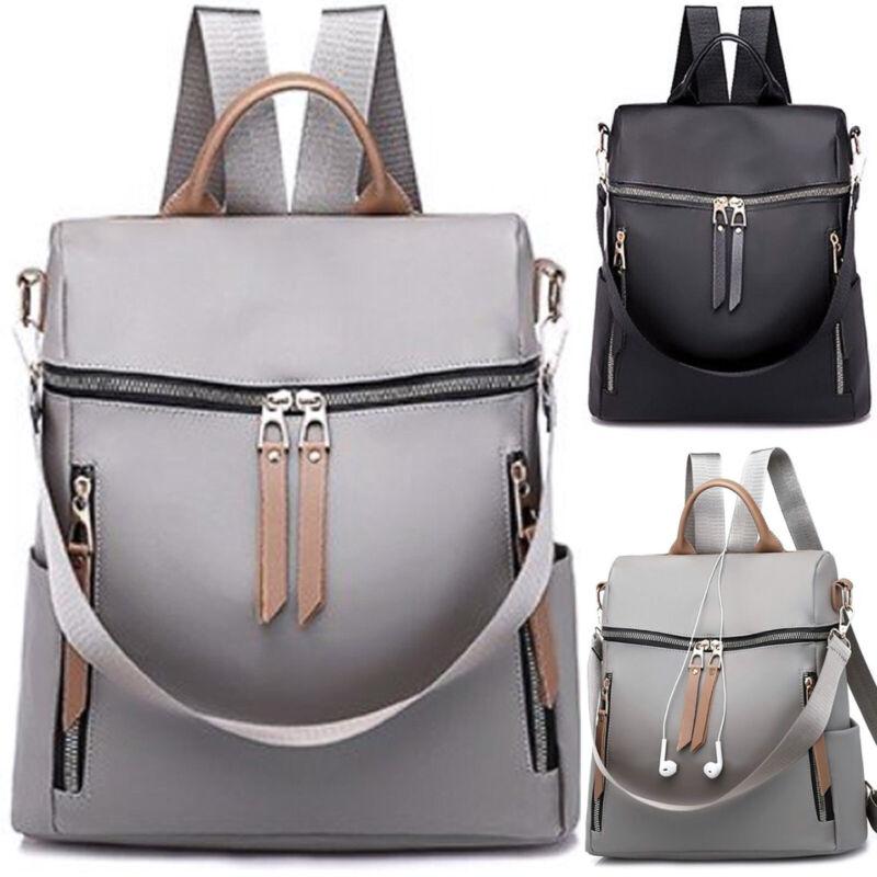 Damen Mädchen Nylon Wasserabweisend Rucksack Handtasche Schulrucksäcke Tasche