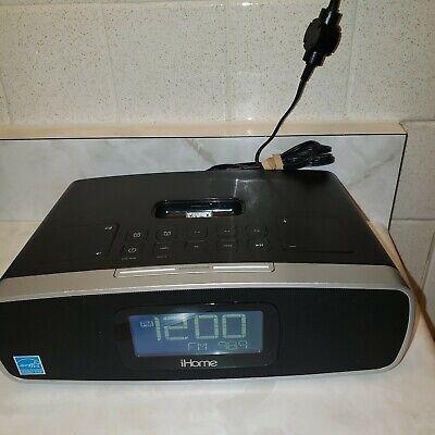 iHome Ip90 Am/fm Dual Alarm Clock Radio for iPhone and iPod Docking - Black